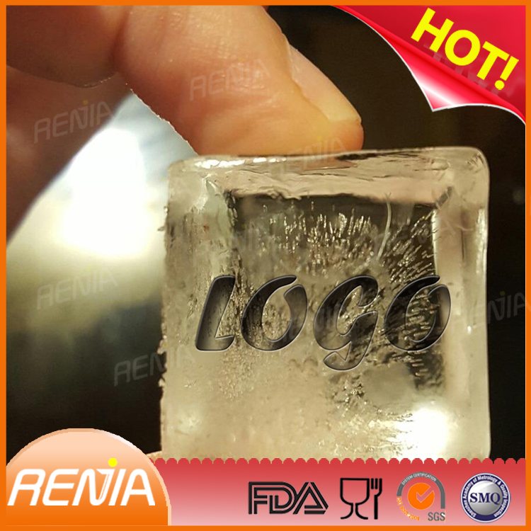 RENJIA personalized logo ice maker food grade square silicone ice cube tray