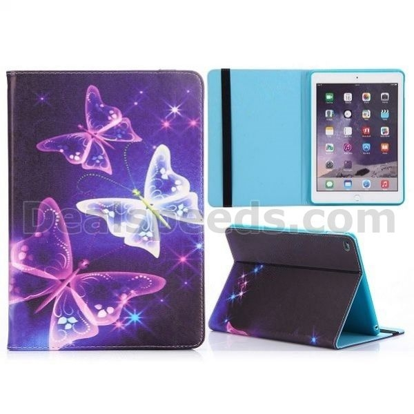 New Arrived Flip Stand TPU+PU Leather Case for iPad Air 2