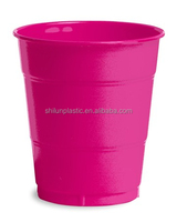 Disposable plastic hot pink 7oz 8oz 16oz party cups for new year