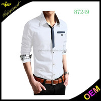 2015 promotional cheap price latest shirt designs for men in india