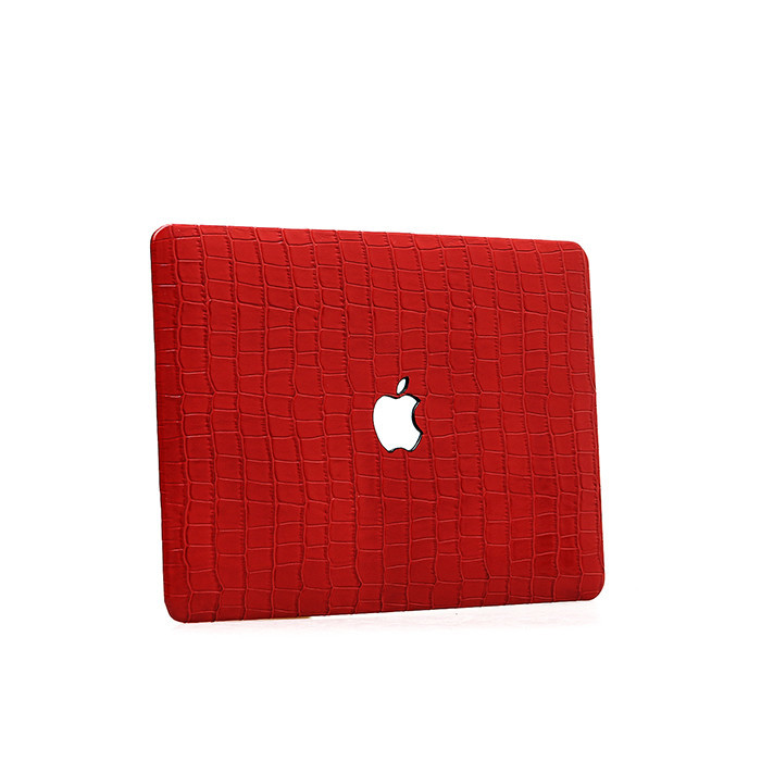Hot products for Macbook case high quality embossed crocodile  leather laptop case_7