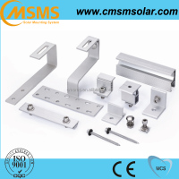 Aluminum pv solar panel mounting brackets for tile roof