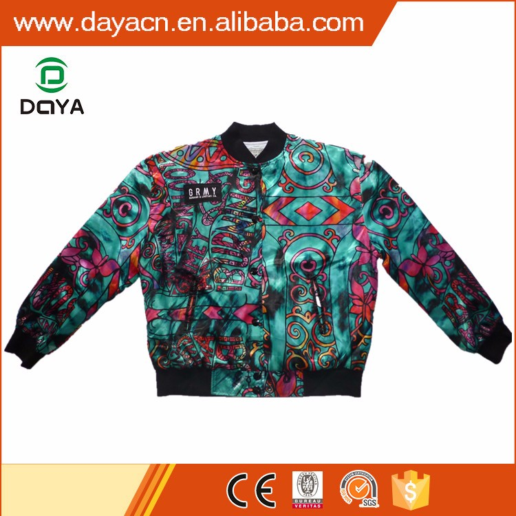 European hot sale fashion hip-hop bomber jacket
