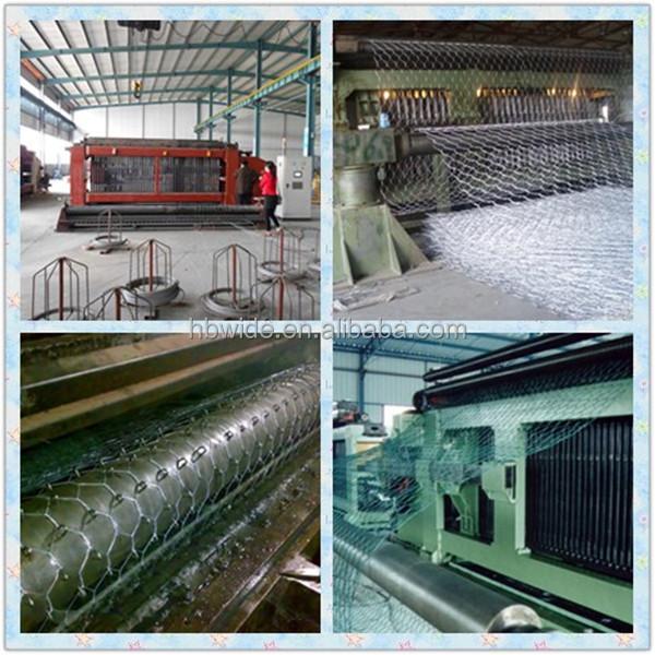 Galvanized hexagonal wire mesh gabion box (factory with 20 years history)