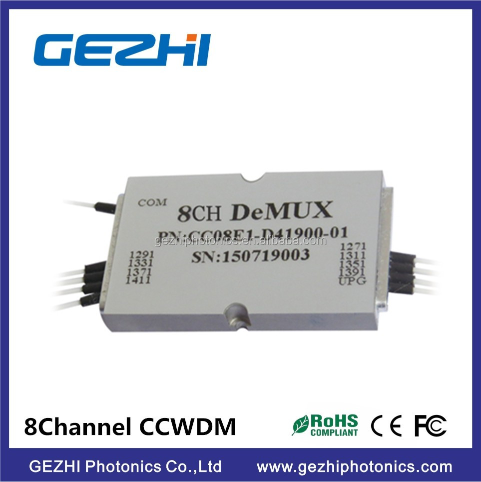 Epoxy free in optical path 8ch compact cwdm for metro networks