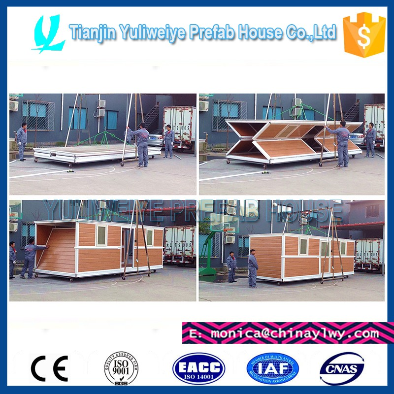Fast Assembly conteiner modular collapsible container foldable house used for Exhibition