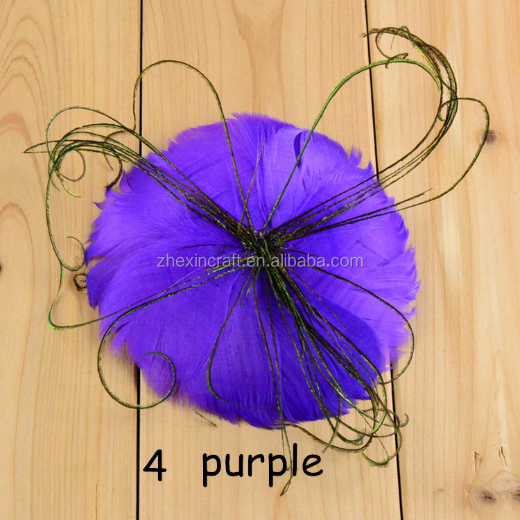 Handmade Feather Flower With Tassels Making For Baby Headband Wholesale