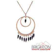 Dual Rings Pendant Necklace N2-20408-3120