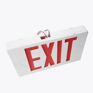 UL cUL red green rechargeable lights led emergency warning light fire safety exit sign board with battery backup