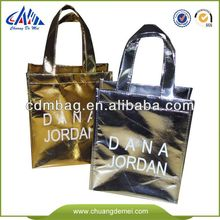 Green Promotional thank you shopping bags