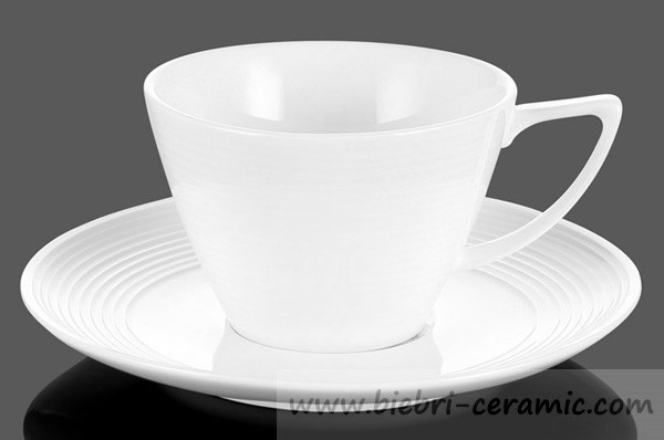 3oz to 12oz Plain White Ceramic Porcelain Fine Bone China Coffee And Tea Cups And Saucers Sets Wholesale