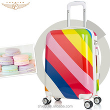 ABS PC Hard Shell Colorful Zipper Girls luggage