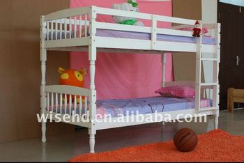 ( WJZ-B21 ) solid pine wood bunk bed