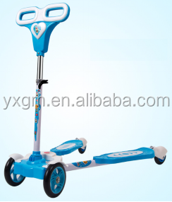 high quality 4 wheels cheap swing frog kick scooter