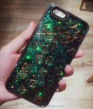 Colorful plastic glitter star liquid oil mobile phone case for iphone 7 / 7 plus 8 OEM offered
