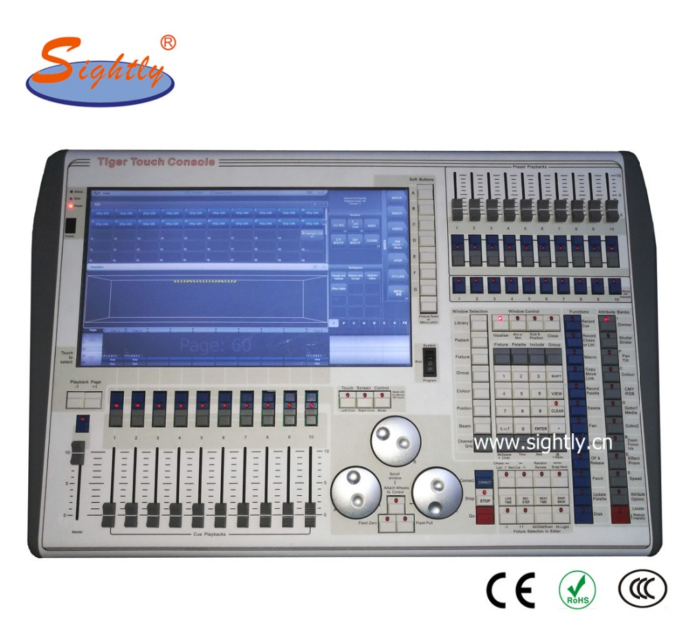 Guangzhou Sightly Tiger Touch V9.1 Lighting Console Professional Moving Light Controller LED Light DMX Dimmer