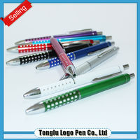Factory directly sale custom slogan printing metal ball point pens with logo
