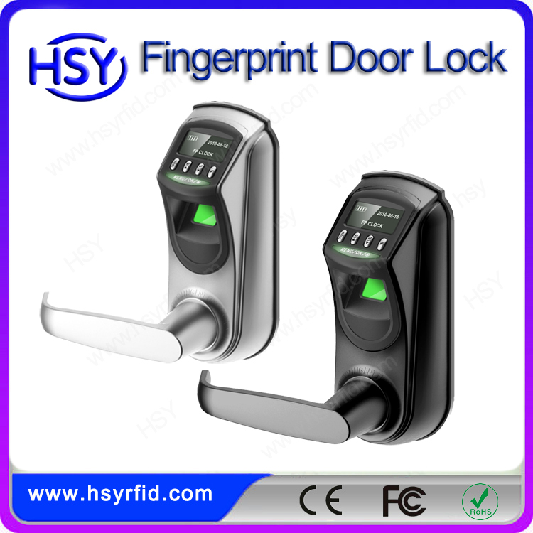 Cheap price zinc alloy material door biometric fingerprint door lock italy with handles