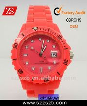 2012 Most Popular Plastic Wristband Watch promational watches