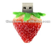 OEM Logo Strawberry Design USB 2.0 Interface Flash Drive
