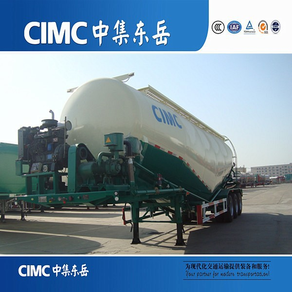 Hot Sale CIMC 80 TON Bulk Cement Tanker Semi Trailers For Sale