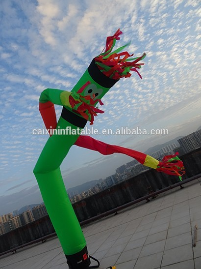 Inflatable Wave One leg Multicolor Arms air dancer sky dancer 4m Advertising Inflatables