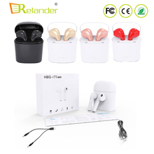 100% Original HBQ I7S TWS twins true stereo wireless earbuds hands free calls BT wireless headphone i7 with charging case