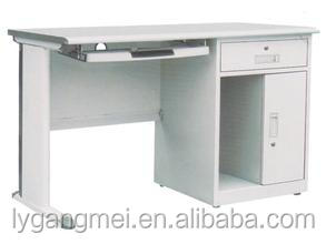 Modern desktop steel computer table for internet cafe