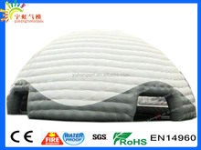 Factory customize inflatable round tents with air blower coldproof dome prefab house
