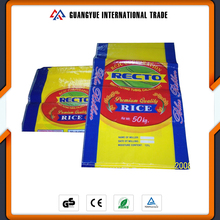 Guangyue Chinese Factory Durable 50Kg PP Woven Plastic Sack Bag Of Rice