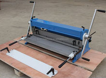 Manual foot metal sheet shear brake roll 3-in-1 machine