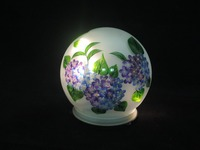 Handmade Outside Garden Led Colorful Glass Flower Painting Balls Light