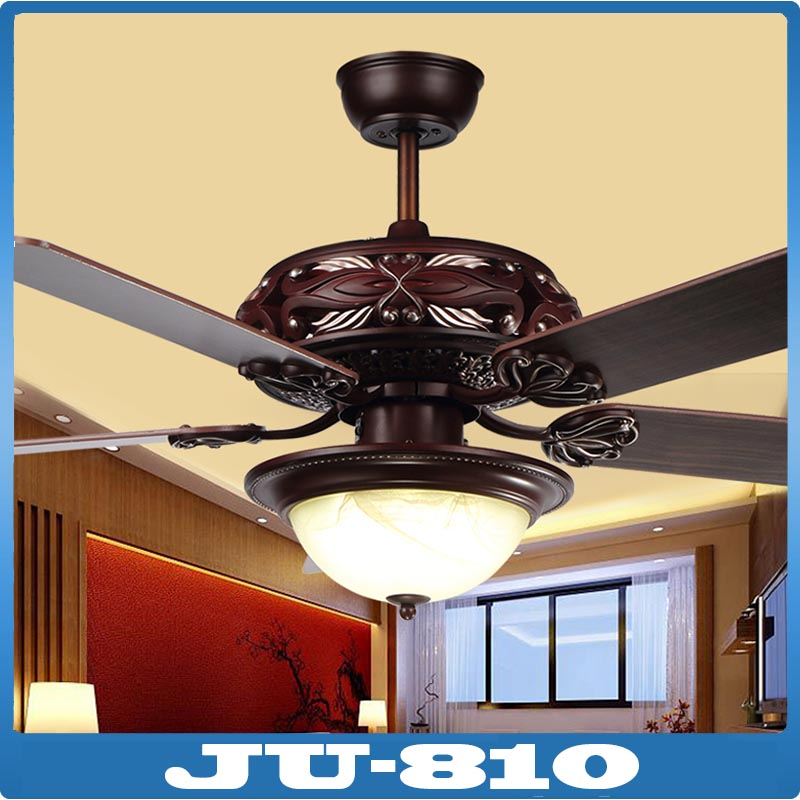 2016 High Quality Fans Ceiling Fan Lamp Red Wood Body