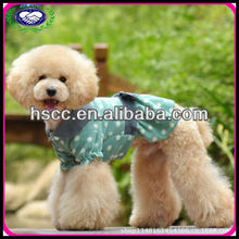 Lovely green and black dots wholesale pet dress