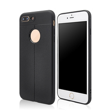 Black mobile case tpu phone cover for iphone 6 7 8 plus