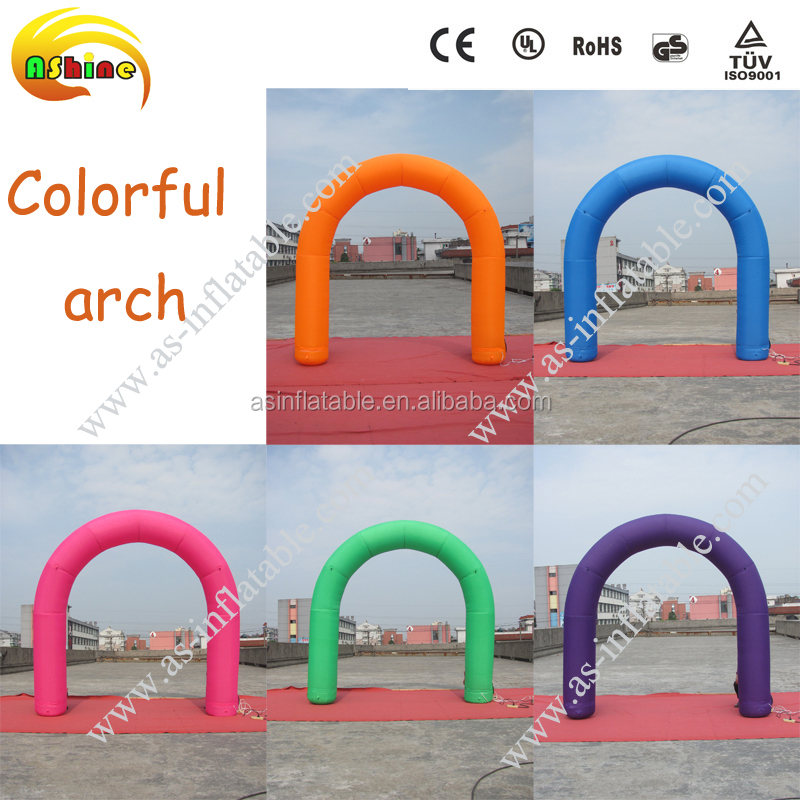 Customized inflatable metal lever arch file clip metal garden wedding arch