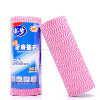 Thanks Giving Gift Nonwoven Fabric Cleaning Wipe Roll , 25pcs Roll Super Kitchen Cleaning Cloth>