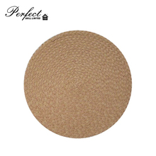 PP woven round placemat kitchen heat-resistant mat