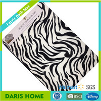 Animal Patterns Printed Design Flannel Memory Foam Waterproof Bath Mat