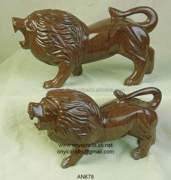 Choclate Marble Lions Figurine in cheap price