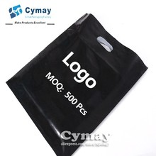 Custom print logo plastic bag MOQ 500Pcs white/black all colors gift PE bag wholesale