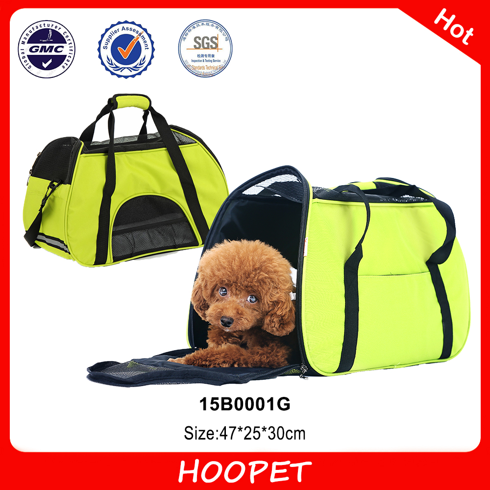 Pet Products Outdoor Ventilate Gridding Cloth Dog Bag Pet Carrier