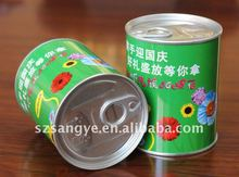 round metal flower seed tin can manufacture