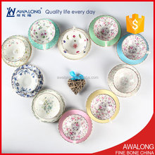 Super Slim Light Metal Additive free Various Styles Coffee Tea Cups And Saucers Used High Quality Fine Bone China