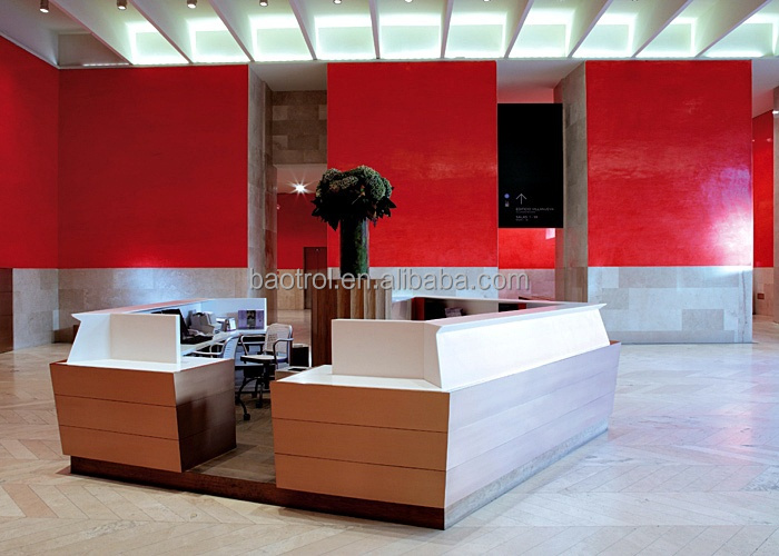 Aangepaste moderne kantoor receptie balie ontwerp balies - Aangepaste bar ...