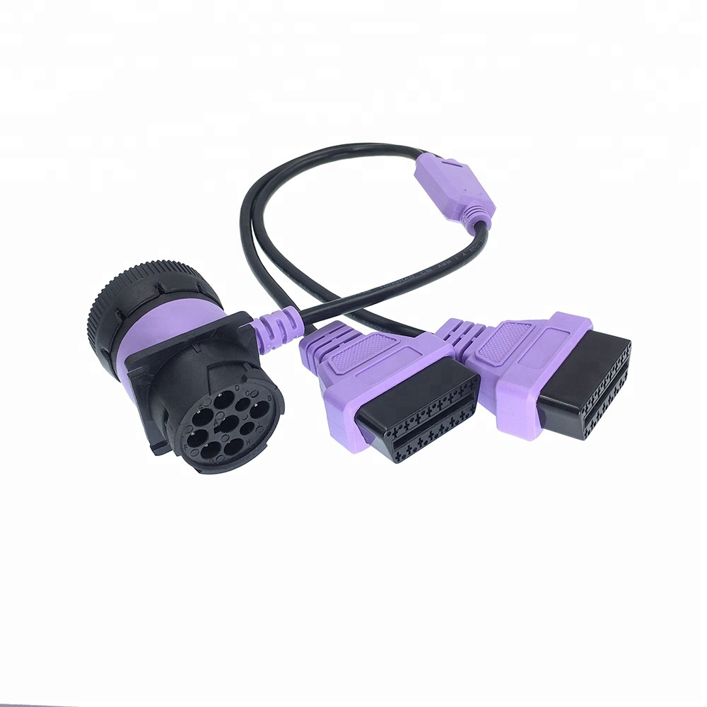J1939 MALE TO FEMALE PASS-THRO DIAGNOSTIC OBD II CABLE