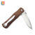 Camping Steel Folding Knife Wood Handle Outdoor hunting pocket knives