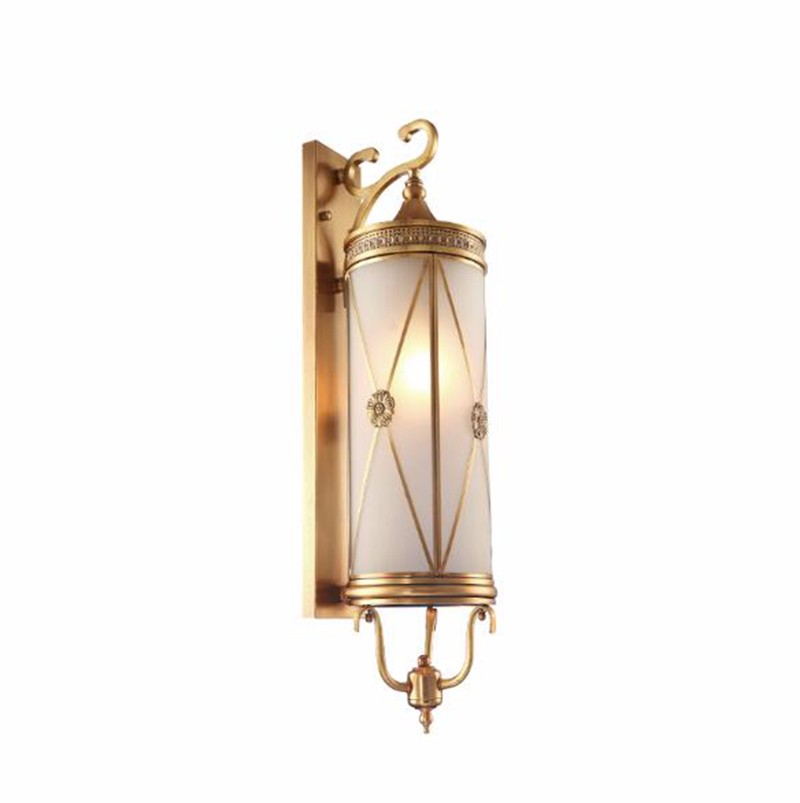 Modern Indoor light outside corridor brass wall lamp for hotel