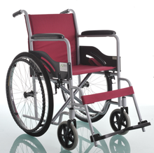 Perlong Red Aluminum wheelchair PU caster SW01