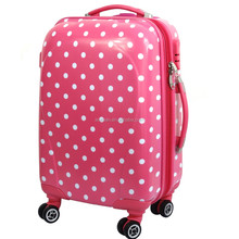 china supplier shop cute printed round dot design cooler bag travel luggage for gift